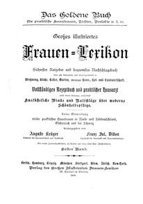 """Titelblatt """"Frauen-Lexikon"""""""