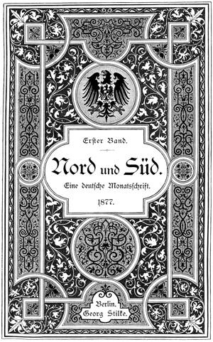 Titelblatt »Nord und Süd«