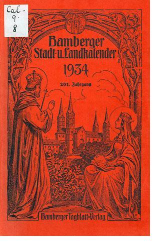 Bild: Bamberger Stadt- u. Landkalender 1934, 201. Jg.