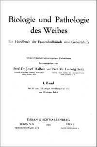 """Titelblatt """"Biologie und Pathologie des Weibes"""""""